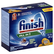 Finish Powerball Tabs Dishwasher Detergent Orange