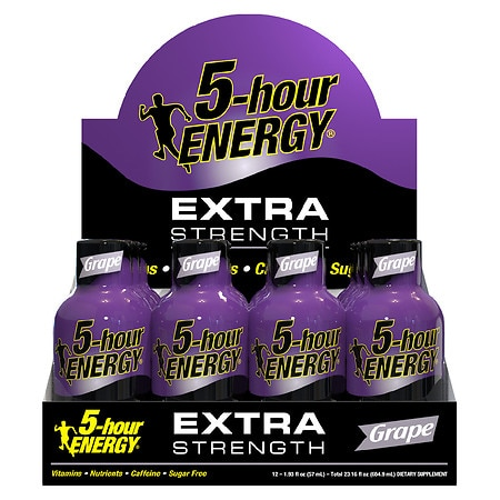 5-Hour Energy Extra Strength Energy Shot Grape, 12 pk