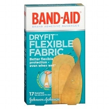 Band-Aid Dryfit Flexible Fabric Assorted Adhesive Bandages