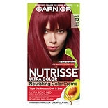 Garnier Nutrisse Ultra Color Ultra Red for Darker Hair Permanent Color Light Intense Auburn R3