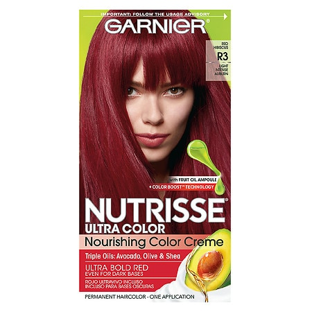Garnier Nutrisse Ultra Color Permanent Haircolor R3 Light Intense Auburn