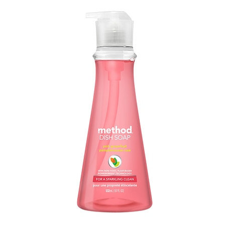 method Dish Soap Pump, Limited Edition Pink Grapefruit