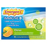 Emergen-C 1000 mg Immune+ System Support Citrus Fizzy Drink Mix Dietary Supplement 30 Pack Citrus Citrus