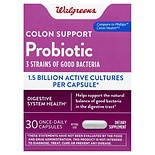 Walgreens Probiotic Colon Support Dietary Supplement Capsules