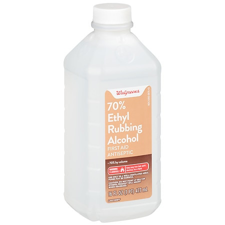 Walgreens Ethyl Rubbing Alcohol 70% First Aid Antiseptic