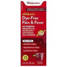 Walgreens Children's Pain Relief Suspension Liquid Dye-Free Cherry