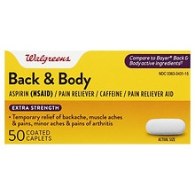 Back & Body Pain Reliever Coated Caplets, Extra Strength