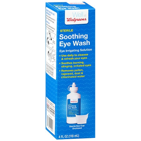 Walgreens Sterile Soothing Eye Wash Eye Irrigating Solution