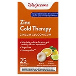Walgreens Zinc Cold Therapy Quick Dissolving Tablets Citrus Citrus Flavor