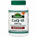 Finest Co Q-10 200 mg Dietary Supplement Softgels