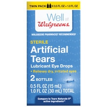 Walgreens Artificial Tears Lubricant Eye Drops Twin Pack