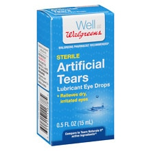 Walgreens Artificial Tears Lubricant Eye Drops