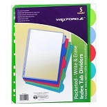 Walgreens Index Tab Dividers with Pockets