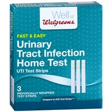 Walgreens Urinary Tract Infection Home Test Strips