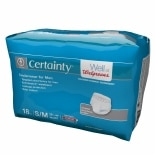 Walgreens Certainty Men's Underwear, Super Plus Absorbency S/M