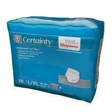 Walgreens Certainty Men's Underwear, Super Plus Absorbency L/XL