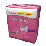 Walgreens Certainty Bladder Protection Pads Maximum Long Absorbency