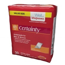 Walgreens Certainty Underpads, Super Plus Absorbency