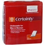 Walgreens Certainty Underpads 17 x 24 inch Regular Absorbency Regular Absorbency, 36 ea Regular Size