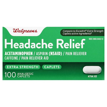 Walgreens Extra Strength Headache Relief Analgesic Caplets