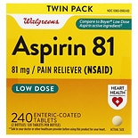 Walgreens Aspirin 81 mg Low Dose Tablets Low Dose