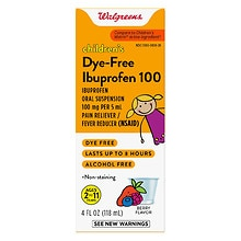 Walgreens Children's Ibuprofen 100 mg Oral Suspension Dye-Free Berry