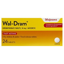 Walgreens Wal-Dram Antimetic Travel Sickness Tablets