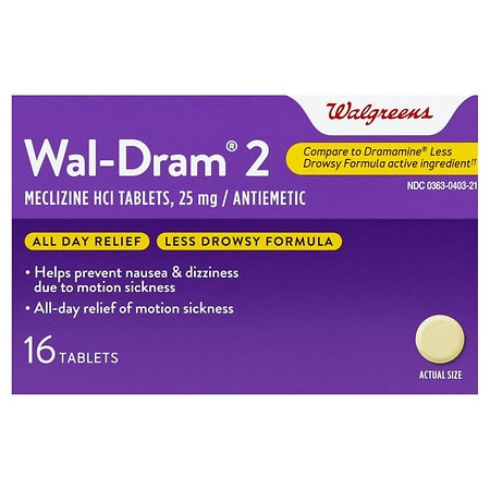 Walgreens Wal-Dram II Antiemetic Travel Sickness Tablets