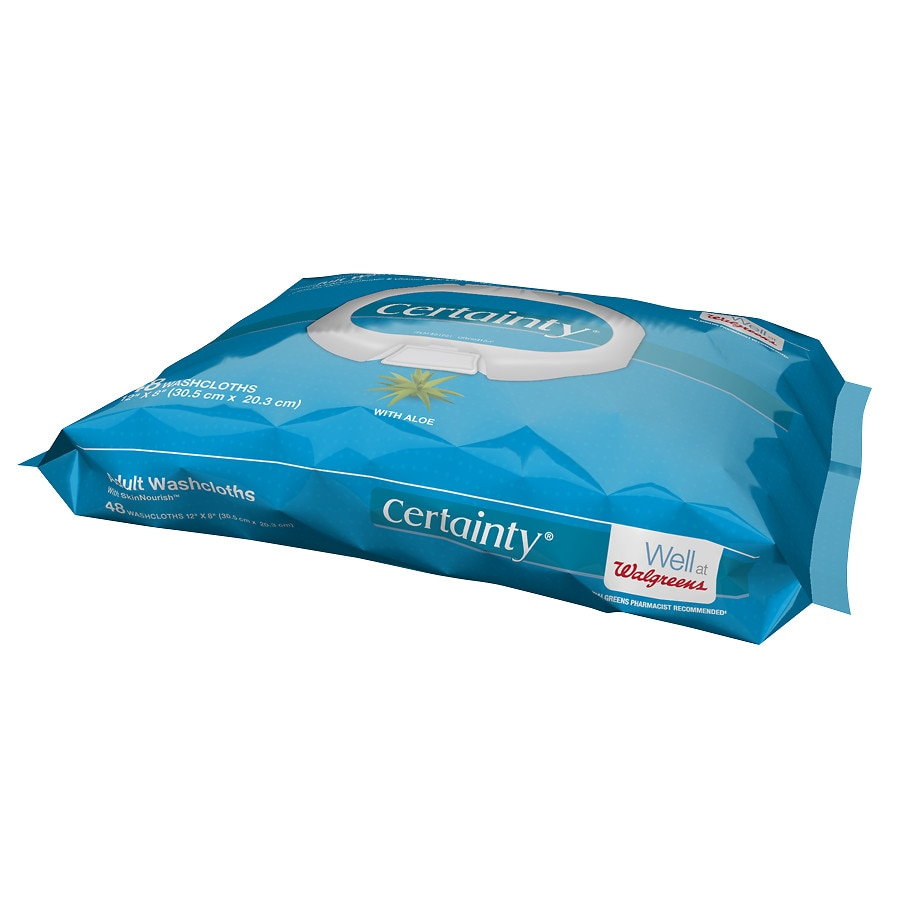 store walgreens certainty adult disposable washcloths inch idprod product
