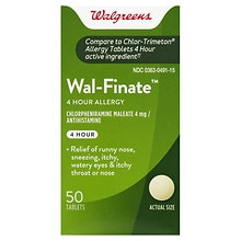 Wal-Finate Allergy Relief Tablets