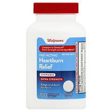 Heartburn Antacid Chewable Tablets Extra Strength, Original Flavor