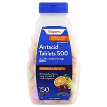 Walgreens Antacid/Calcium Supplement Tablets Regular Strength Assorted