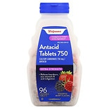 Walgreens Extra Antacid 750 mg Chewable Tablets Berry Assorted Berries