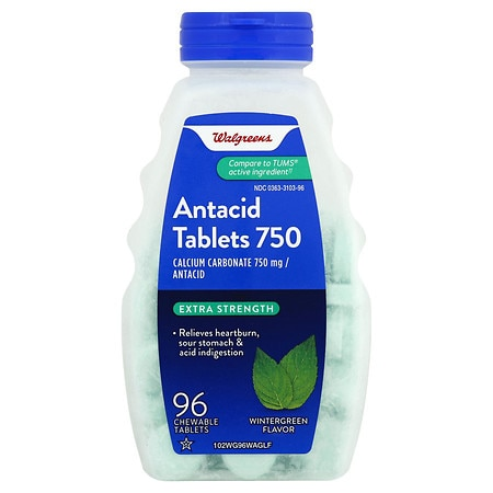 Walgreens Antacid Chewable Tablets Extra Wintergreen