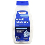 Walgreens Antacid Chewable Tablets Regular Strength Peppermint
