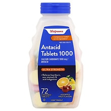 Walgreens Ultra Strength Antacid/Calcium Supplement Chewable Tablets Assorted Fruit
