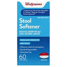 Walgreens Easy-Lax Stool Softener Laxative Softgels