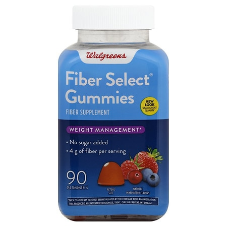 Walgreens Fiber Select Supplement Gummies Strawberry