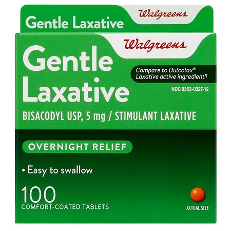 Walgreens Gentle Laxative Tablets