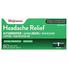 Walgreens Extra Strength Headache Relief Gelcaps Extra Strength