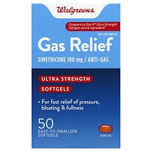 Walgreens Gas Relief Softgels Ultra Strength