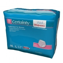 Walgreens Certainty Women's Underwear, Super Plus Absorbency, Large