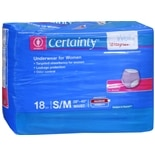 Walgreens Certainty Women's Underwear Small/Medium Super Plus Absorbency