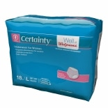 Walgreens Certainty Women's Underwear, Large