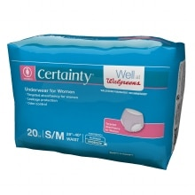 Walgreens Certainty Women's Underwear Small Medium