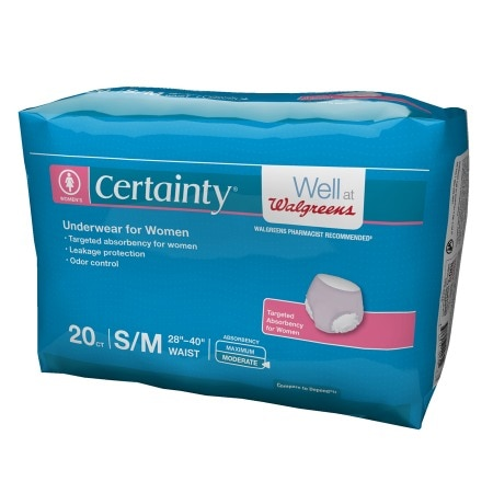 Walgreens Certainty Women's Underwear, Moderate Absorbency