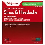 Walgreens Sinus Congestion & Pain Reliever Gelcaps Daytime