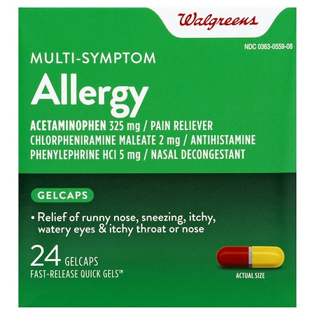 Walgreens Allergy Multi-Symptom Fast Release Quick Gels