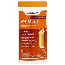 Wal-Mucil Bulk Forming Laxative/Fiber Supplement Powder Smooth Texture Sugar Fre, Orange Flavor