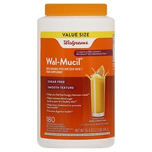 Walgreens Wal-Mucil 100% Natural Fiber Laxative/Dietary Supplement Powder Orange Flavor